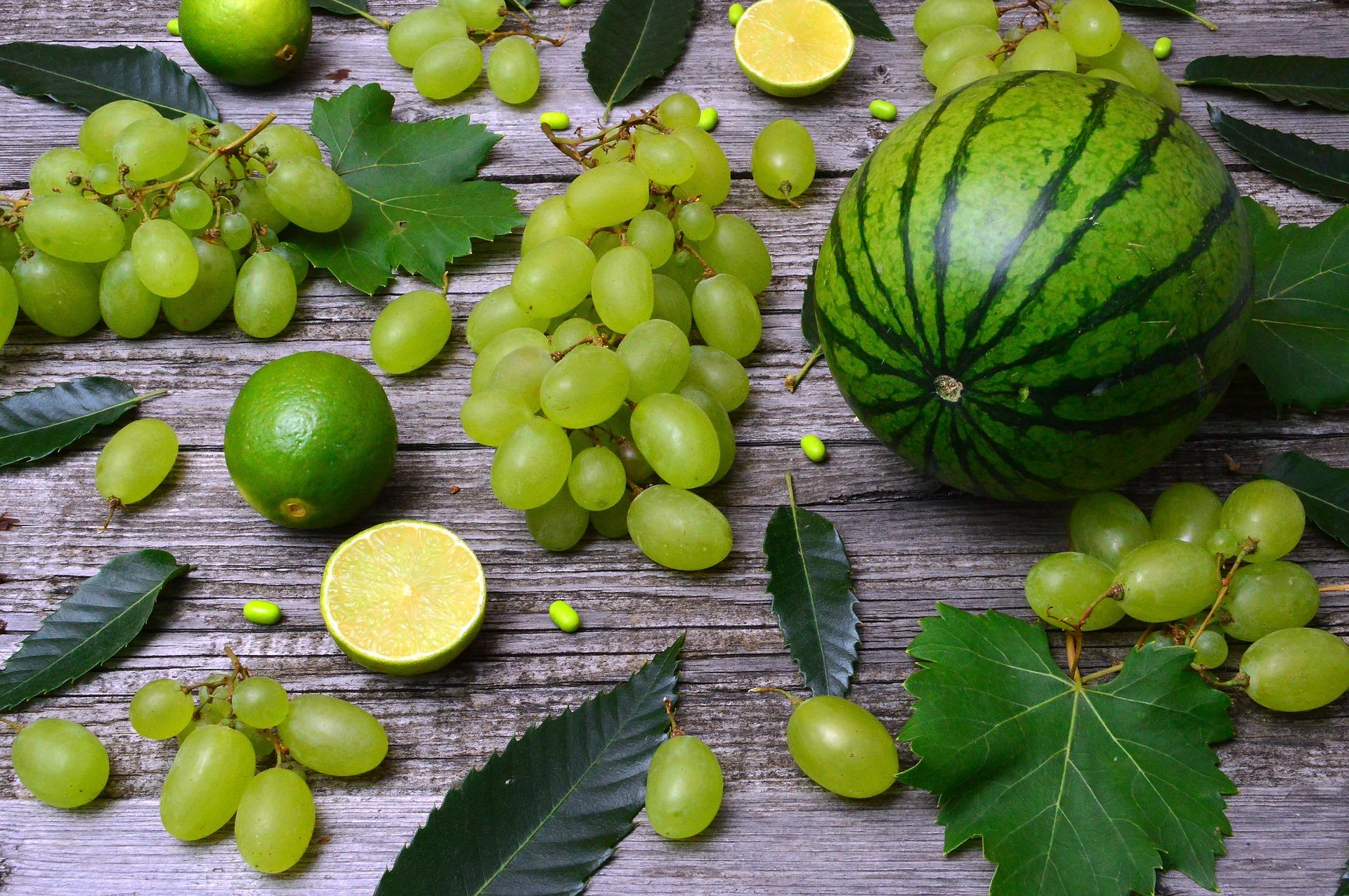 Frullato con uva e melone